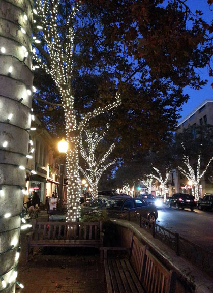 Palo Alto at night