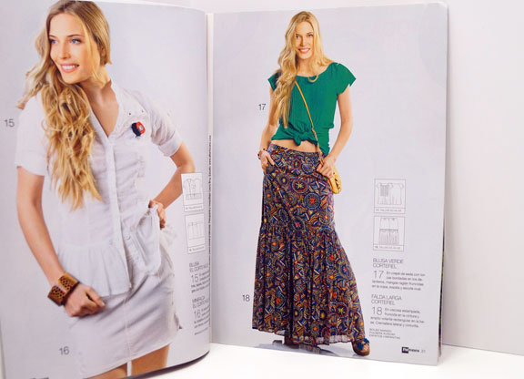 Patrones-No-303-blouse-and-skirt-15-to-18